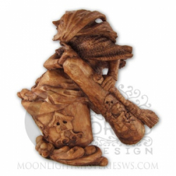 Statue - Baba Yaga - Holzoptik - Dekoration - Ritualbedarf