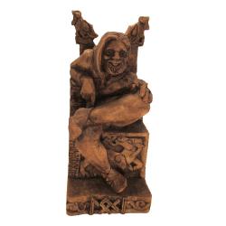 Statue - Loki sitzend - Seated Loki - Holzfinish - Dekoration - Ritualbedarf