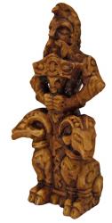 Statue - Thor Figurine klein - Holzfinish - Dekoration - Ritualbedarf