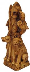 Statue - Odin Figurine klein - Holzfinish - Dekoration - Ritualbedarf