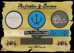 Aufnäher Patch Aufkleber - gewebt - DSA 01 - Praios - 8cm - creme/ gold