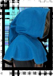 Gugel Mediaval mit Ziernaht - blau - L/XL