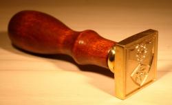 Siegel - individuell - Siegelwachsstempel 3cm mit eigenem Motiv - eckig oder rund
