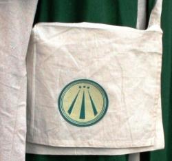 Umhängetasche mit Aufnäher - OBOD AWEN - Ovate - grün