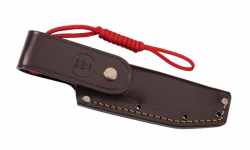 Nieto Gürtelmesser - BOSQUE, Böhler Stahl N-695, rote GFK-Zwischenlage, Grenadillgriffschalen, Lederscheide