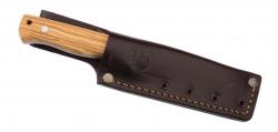 Nieto Gürtelmesser - YESCA, Vanadium Stahl 1.4116, Full Tang, 4mm Rückenstärke, Olivenholzschalen, Lederscheide