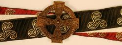 Handfasting Band - 3x Triskele & keltisches Kreuz altmessing