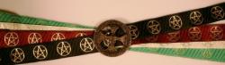 Handfasting Band - 3x Pentagramm, AWEN & Nordisches Axtkreuz altmessing