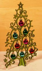 Kugeltraum 20cm - Grün - Weihnachtsbaum - Yuletanne - Weihnachtsdeko