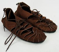 Schuhe LC - Bundschuhe/ Ritualschuhe zum Schnüren mit Gummisohle