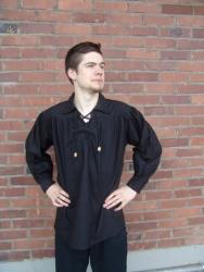 Hemd LC - 2013 mit Schnürung & Rundkragen - unisex - verschiedene Farben