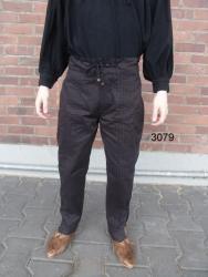 Hose LC - 3079 mit Ziernaht, Schnürung & Knöpfen