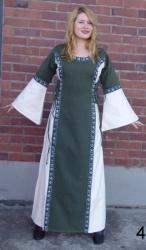 Kleid LC - 4016 mit Bordüre (Reißverschluss im Rücken)