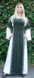 Kleid LC - 4066 mit Bordüre (Schnürung im Rücken)