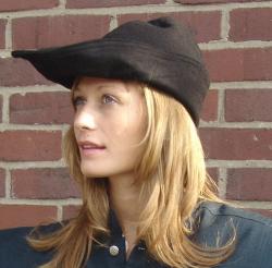 Robin Hood Hut aus Leder in braun oder schwarz - unisex
