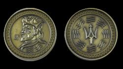 Larp Münzset - FantasyCoins - Element Wasser - 30 Stück