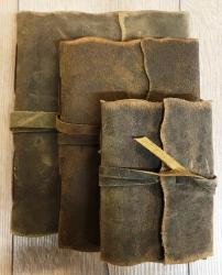Notizbuch - Diary - Leder mit handgeschöpftem Papier Größe 2 - 13cm x 19cm - 180 Seiten - braun - Handarbeit
