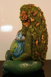 Statue - Erdmutter - Millennial Gaia - Dekoration - Ritualbedarf
