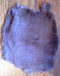 Felle - Kaninchen - gefärbt - braun - ab 7,50€ pro Stück