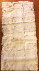Felle - Felltafel - Kaninchen weiss glatt - 60cm x 120cm - ab 25€