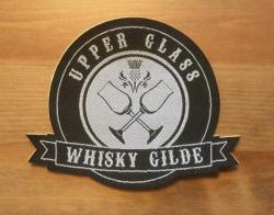 Aufnäher Patch Aufkleber - gewebt - Whisky Gilde - Upper Glass  - 12cm