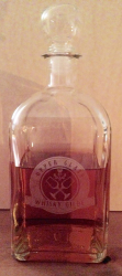 Whisky Flasche eckig - Upper Glass - Whisky Gilde - inkl. Gravur