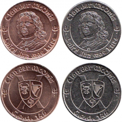 Larp Münze* - Clan der McOnis - Laird Ian - Silber*