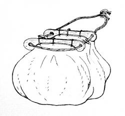 Tasche - Taschenbügel der Wikinger - klein - hell
