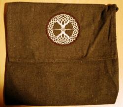 Umhänge- Tasche braun - keltischer Lebensbaum - beige/ dunkelbraun
