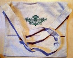 Umhänge- Tasche natur - schottische Distel - grün