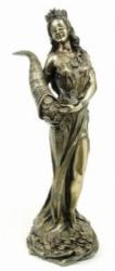 Statue - Fortuna - römische Göttin des Glücks und des Schicksals - Dekoration - Ritualbedarf