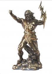 Statue - Zeus wirft Blitze - griechischer Göttervater - Dekoration - Ritualbedarf