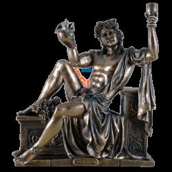 Statue - Dionysus liegend mit Weinkrug & Kelch - griechischer Gott des Weines - Dekoration - Ritualbedarf