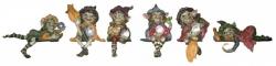 Figur - Pixie-Hexen Kantenhocker liegt links - bunt - Dekoration