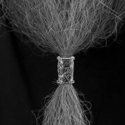 Bartperle/ -hülse/ Haarperle - Raben - Zinn