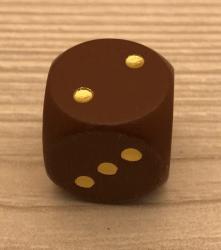 Würfel aus Holz - ahorn - 16mm