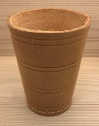 Würfelbecher aus Leder - 10cm